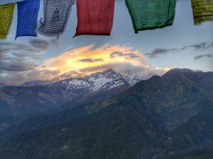 Вид на горы из Горепани