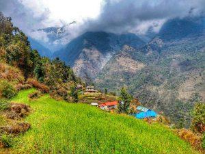 Непальская деревенька на треккинге к Аннапурне