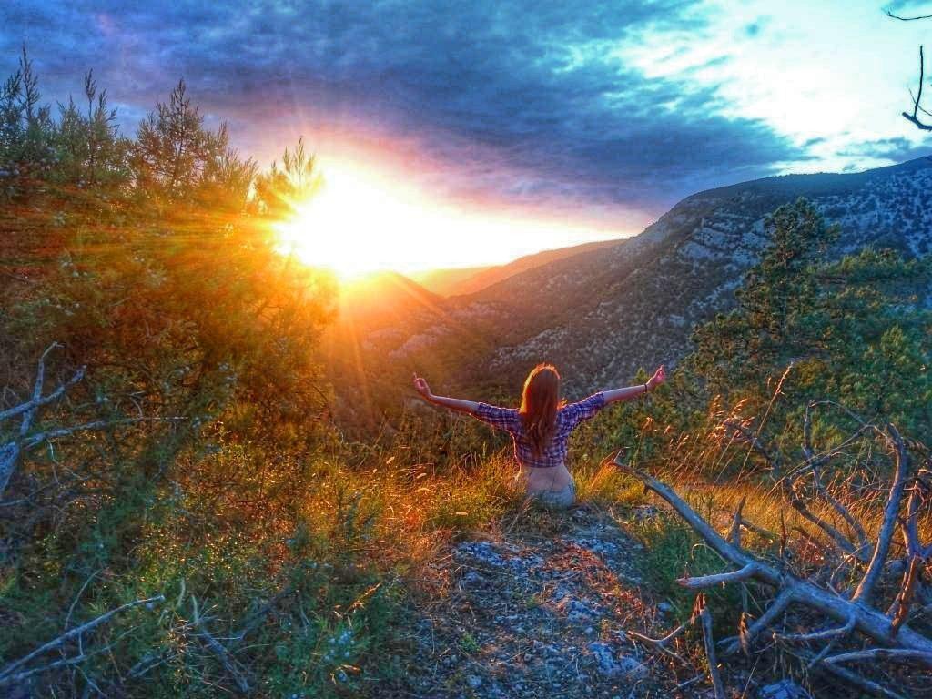 Закат на Кызыл-кая