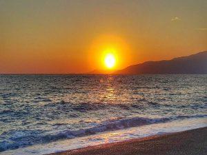 Средиземное море. Закат