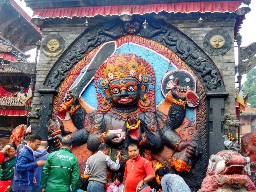 Барельеф Бхайравы в Непале