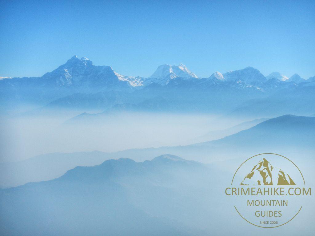 Полёт из Луклы. Вид на Гималаи