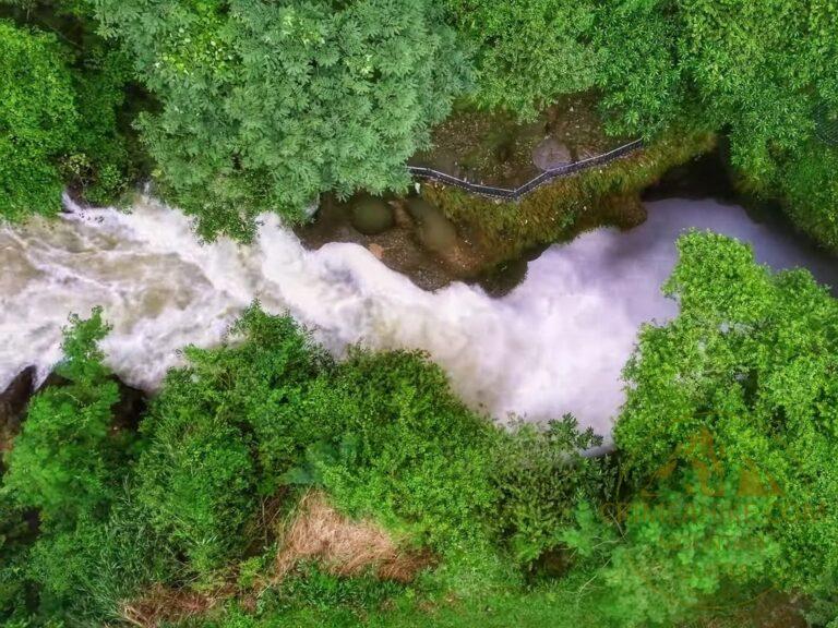 Непал. Покхара. Водопад Дэвис. Вид сверху